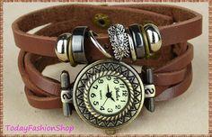 Christmas, Halloween, Thanksgiving gifts,Retro, Knit bracelet,Hedgehog, rivet vintage watch,Women watch  YL1 on Etsy, $15.99