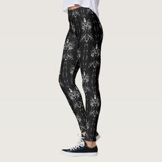 Baphomet Damask Occult Goth Leggings - personalize gift idea special custom diy or cyo