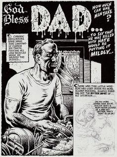 """Robert Crumb - """"God Bless Dad"""" 1988"""