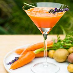 CARROTINI - frankly, I don't see myself (or James Bond) ordering one of these at a bar. But if I'm ever hosting a cocktail party for bunnies...