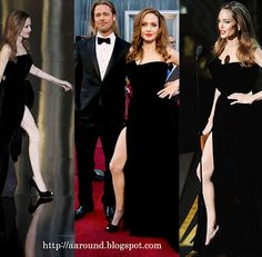 """At the Academy Awards Angelina Jolie caused a stir. Again and again looked out of her """"dress hochgeschlitzten"""" right leg. As her """"Hot Leg"""" is the hype."""