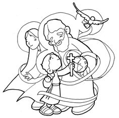 Holy Family / Trinity coloring page