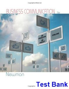 Niebels methods standards and work design 13th edition andris test bank for business communication in person in print online 9th edition by amy newman fandeluxe Image collections