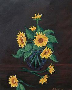 Sun Flowers  Painting  - Sun Flowers  Fine Art Print