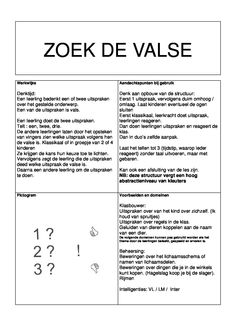 Zoek de valse groep 1-2