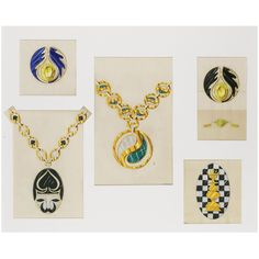 COLLECTION OF DRAWINGS, BULGARI, 1970S & 1980S