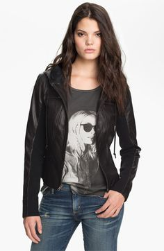 """On my birthday wish list! """"Trouvé Leather Hoodie 