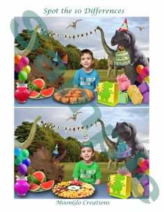 Dinosaur Custom Spot the differences party by MoonGloCreations