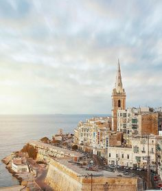 #GoodAfternoon! Check out this #picturesque view of Malta's Capital City #Valletta  Featured Photographer: @itsmadsphoto  Tag your #photos with #MaltaPhotography to get a chance to be #featured on @maltaphotography - http://ift.tt/1T1gqWE  #sun #clouds #orange #afternoon #midweek #church #old #history #love #me #colours #island #jj #Malta #Photography #instagramhub #instafamous #photooftheday #picoftheday #lonelyplanet #travel #destination #worlderlust #beautifuldestinations