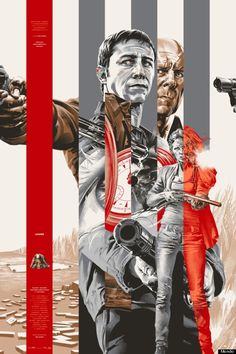1 of 2 Looper posters released by Mondo. Design by Martin Ansin.