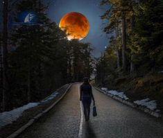 Photograph Super Blood Moon by Cuma Çevik on Beautiful Moon, Beautiful Places, Beautiful Pictures, Amazing Photos, Wonderful Places, Stars Night, Night Light, Stars And Moon, Shoot The Moon