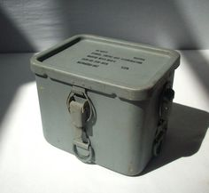 Vintage US Navy Signal Smoke and Illumination Metal Container / Industrial container