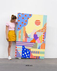 By Mireia Ruiz / Acrylic on canvas / Summer 2016  Cocolia Studio @cocolia / @mireiaysuscosas