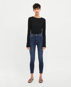 JEANS HIGH WAIST MIDNIGHT  BLUE Boyish, Wardrobe Basics, Zara Women, Trousers, Pants, Midnight Blue, High Waist Jeans, Party Wear, What To Wear