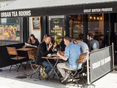 Urban Tea Rooms is situated on a  pedestrianised road, with outside tables for breakfast, lunch or  alfresco dining in the evening.
