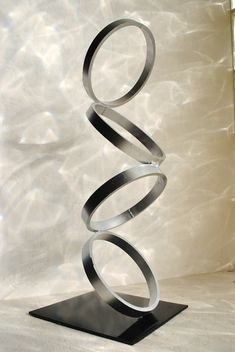 Mid Century Modern Metal Sculpture Art by PetrykowskiArtworks