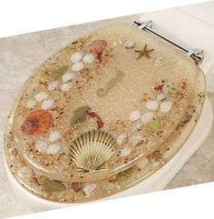 gold foil toilet seat.  Gold Foil Elongated Toilet Seat Bath And College House