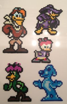 Darkwing Duck NES Pixel Beads 8 Bit Perler Sprites by Derrico13, $75.00