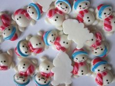 "Flatback Resin ""Snowman""  Christmas Embellishment #christmas"