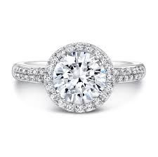 Halo engagement ring with double band