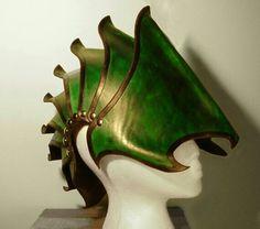 Leather nautilus helm.