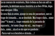 Bula e la concurs de parasutism, alergare si biciclete - Bancuri Facebook Romania Humor, Facebook, Funny, Humour, Funny Photos, Funny Parenting, Funny Humor, Comedy, Hilarious