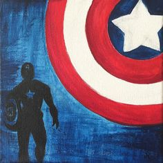 Captain America on - Visit to grab an amazing super hero shirt now on sal Art Painting, Captain America Canvas Painting, Marvel Paintings, Superhero Canvas Painting, Painting, Spiderman Painting, Canvas Art, Marvel Drawings, Canvas Painting Diy