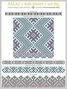 CU MULTUMIRI PENTRU: Domnul Augustin Goia (Muzeul Etnografic al Transilvaniei - Cluj), Muzeul Etnografic Zalau, Alina Goga, Octavia Lung,... Folk Embroidery, Embroidery Patterns, Cross Stitch Patterns, Fantasy Concept Art, Folk Fashion, Traditional Art, Blue Bird, Romania, Folk Art