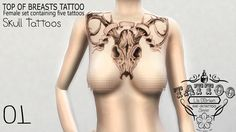 Sims 4 CC's - The Best: TATTOO TOP OF BREASTS by Lis O'Brien Sims 4 Mods, Sims 4 Tattoos, Sims 4 Game, Bad Gal, Sims 4 Clothing, Tattoos For Women, Breast, Bodysuit, Woman