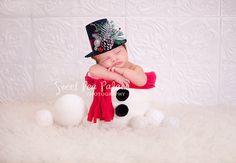 Bebé recién nacido niño fotografía Prop escenario Digital para fotógrafos - Navidad - Frosty el muñeco de nieve