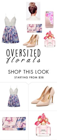 """""""Flowers"""" by sofvillano ❤ liked on Polyvore featuring Ally Fashion, Rupert Sanderson, GUESS, Marc Jacobs and Casetify"""