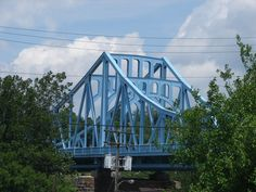 Newly refurbished Boston Bridge over the Youghiogheny River - McKeesport, PA