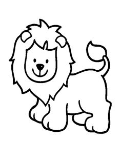 Simple Lion color page. Animal coloring pages. Coloring pages for kids. Thousands of free printable coloring pages for kids! Zoo Animal Coloring Pages, Lion Coloring Pages, Coloring Pages For Girls, Disney Coloring Pages, Coloring For Kids, Free Coloring, Coloring Books, Colouring, Easy Animal Drawings