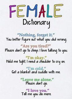 female dictionary haha