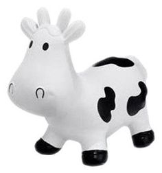 Meet howdy, the bouncing phthalate free rubber cow from Trumpette. The howdy cow was designed to provide your young one hours of ride-on bouncing fun. Howdy has extra long ears for easy grasping and is just the right height to hone those balancing skills.