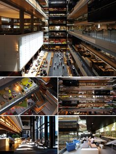 ANZ Centre Office, Melbourne  (Hassall Architecture) I envision this as a really cool apartment building.