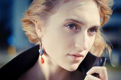 Paleque earrings by Sutasz-Anka Model: Alicja Łukasiak, Photo : Natalia and Albert Łukasiak www.soutage.com