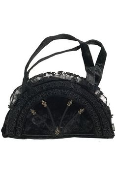 BLACK /& IVORY SATIN /& LACE LADIES RETICULE PURSE VICTORIAN TEA STEAMPUNK  SASS
