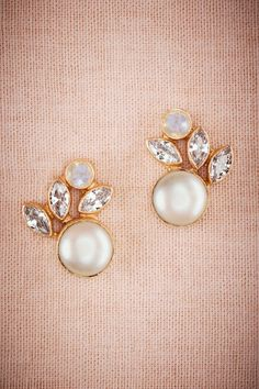 BHLDN Luna Pearl Post Earrings in Shoes & Accessories Jewelry at BHLDN