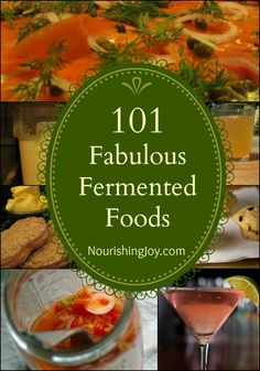 101 Fabulous Fermented Foods. LOTS of links to tips, tricks, and recipes...fruit & veggies, drinks, dairy, and more.