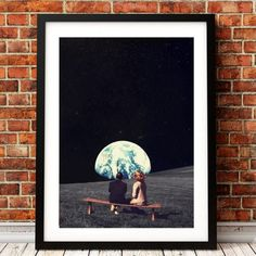 We Used to Live There Earth Canvas Art Print and Poster , Surrealism Galaxy Space Canvas Painting Wall Picture Sci-Fi Art Decor Canvas Poster, Poster Wall, Canvas Art Prints, Canvas Wall Art, Space Painting, Galaxy Painting, Sci Fi Kunst, Nordic Art, Landscape Artwork