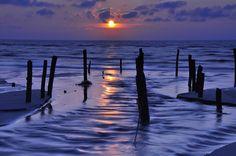 sunset in Chang-Hua Coastal   By michaeliao27