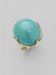 Daytime: Ippolita Turquoise & 18K Yellow Gold Ring - A nod to the turquoise and gold producing regions of Mexico #SaksLLTrip