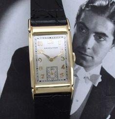 Men's 1950 Hamilton Dress Watch in Solid 14k Gold | Strickland Vintage Watches