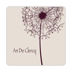 a logo, a business card and a card to write down the next appointment ✻ all new for An De Clercq psychotherapy