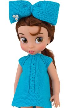 Disney Animators dolls are so incredibly cute that its impossible not to knit their doll clothes or design a dress knitting pattern for them! This