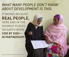 #Partnership is the key to lasting #progress. Hear more from Melinda #Gates on #development- and the importance of #women!