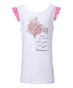 Loving this White & Pink 'Pretty Little Flower' Tee - Toddler & Girls on #zulily! #zulilyfinds