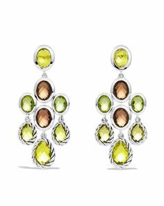 Chandelier Earrings with Lemon Citrine, Smoky Quartz, and Peridot  by David Yurman at Neiman Marcus.