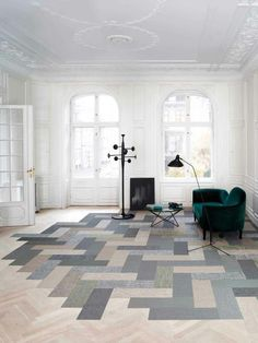 Living room floor design